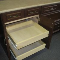 Custom Kitchen Cabinets with hidden drawers