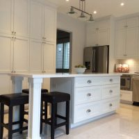 Custom Kitchen Island with cabinets