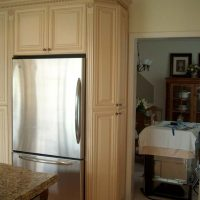 Custom corner kitchen cabinet
