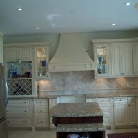 custom off-white cabinets